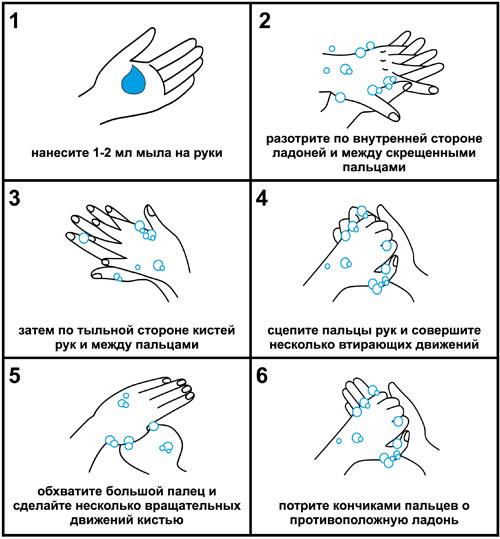 Как мыть руки.