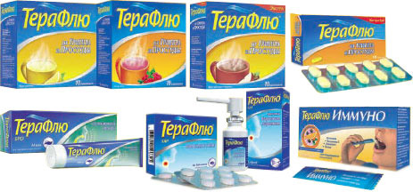 ТераФлю ЛАР - таблетки и спрей