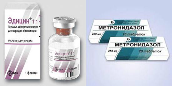 Ванкомицин и метронидазол