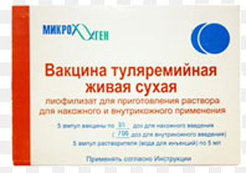 живая ослабленная сухая туляремийная вакцина Эльберта-Гайского