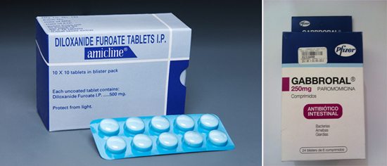 Паромомицин и Дилоксанид фуроат лечение амебиаза