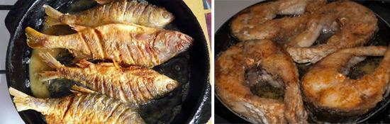 жаренная рыба описторхи
