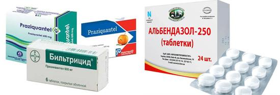 противогельминтные препараты цистицеркоз