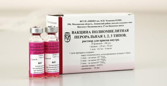 пероральная вакцина полиомиелит фото