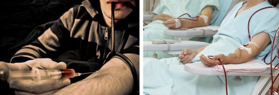 Передача множества инфекций проиcходит через кровь